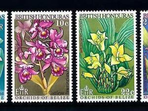 [79884] British Honduras Belize 1969 Flora Flowers Blumen Orchids  MNH