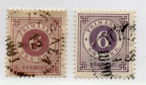 Sweden - Sc# 44 & 44a Used       /        Lot 1021022