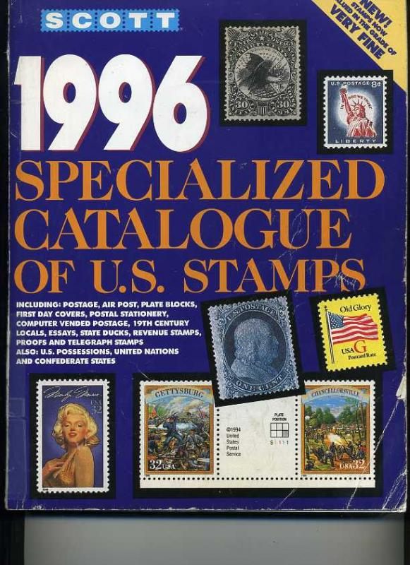 1996 Scott Speciality Catalog of US Stamps