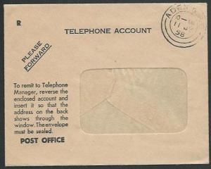 ADEN 1959 Official PO Telephone a/c cover - ADEN GPO cds...................58927