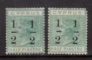 Cyprus #26 #26a Mint Duo