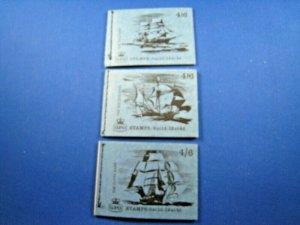 GREAT BRITAIN 1968 COMPLETE MNH STAMP BOOKLETS -  4/6 - LOT OF 3    (kbgbbk3)