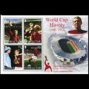GIBRALTAR 2002 - Scott# 908a S/S W.Cup Soccer NH