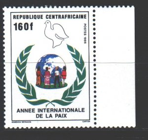 Central African Republic. 1986. 1249. Year of the world dove. MNH.