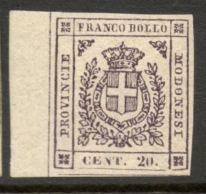 Italian State MODENA Scott #12a VF Mint OG Stamp CV $4000