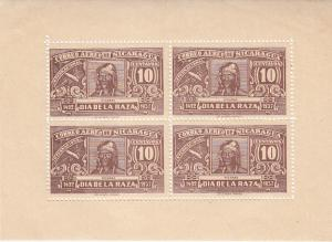 Nicaragua Day of the Race 1937 Miniature Sheets MNH - Perfed