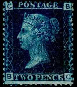SG47, 2d dp blue PLATE 15, NH MINT. Cat £525+ BC