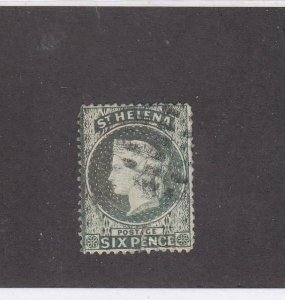 ST. HELENA (MK6611) # 7  F-USED  6p 1889 QUEEN VICTORIA / GRAY