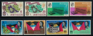 Antigua #163-6,86-9*  CV $2.90
