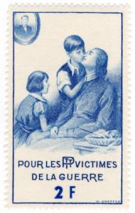 (I.B) France (Great War) Cinderella : PTT War Victims Fund 2Fr