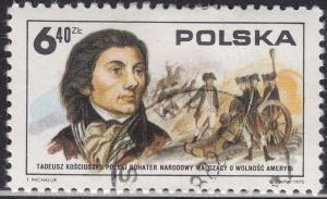 Poland 2121 USED 1975 Tadeusz Kosciusko 4.60zł