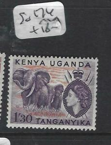 KENYA, UGANDA, TANGANYIKA   (PP0106B)  QEII  1/30   SG 174   MOG
