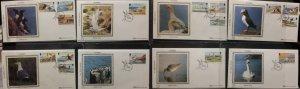 Isle Of Man IOM 1983 Seabirds Definitive Benham Full set to £1 FDC All SHS