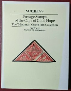 Auction Catalogue MAXIMUS CAPE OF GOOD HOPE Sotheby's 1989 CGH South Africa