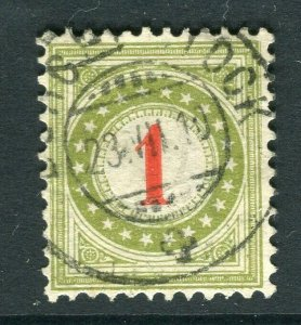SWITZERLAND; 1883 classic early Postage Due issue fine used 1c. value