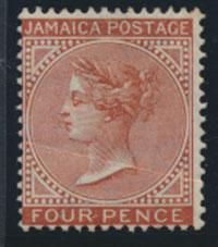 Jamaica SG 48 MH   SC# 48   purple yellow   see details