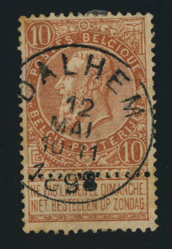BELGIQUE BELGIUM - OBLITÉRATION RONDE DALHEM SUR COB 57 -1898