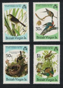 BVI Sparrow Pigeon Chat Kestrel Birds Audubon 4v SG#588-591