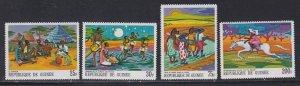 Guinea # 505, 506, 510, C103, African Legends, NH, 1/3 Cat.