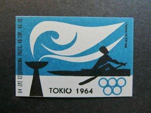 A4P4F33 Reklamemarke 1964 TOKYO JAPAN OLYMPICS mint no gum