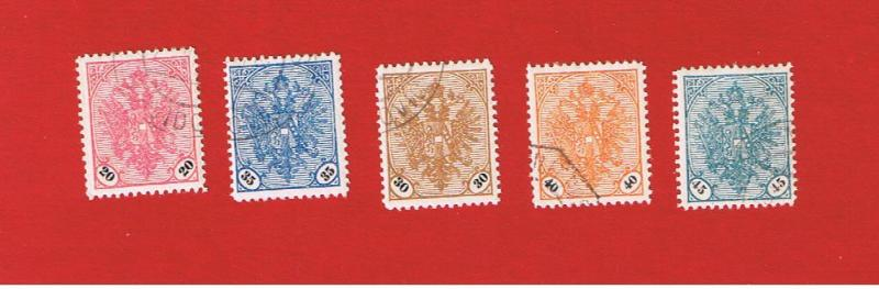 Bosnia #25-29 VF used Coat of Arms  Free S/H