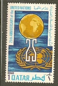 Qatar       Scott  226   UN Anniversary    Unused