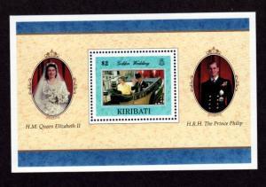 Kiribati 704 Mint NH MNH Souvenir Sheet Golden Wedding!