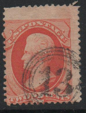 US Stamps 1875  Jackson Sc178  2c vermillion Stamp Used F
