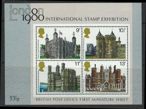 Great Britain Scott 909a Mini Sheet! Stamp Exhibit!