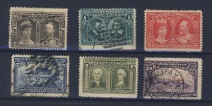 6x Canada 1908 Quebec Stamps #96 to #101 Guide Value = $200.00