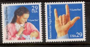 2783-84 American Sign Language Set Mint/nh Free Shipping