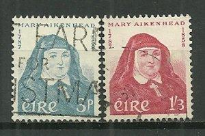 1958 Ireland 167-8 Mother Mary Aikenhead C/S used
