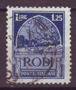 J21527 Jlstamps 1929 italy Rhodes used #21 tomb