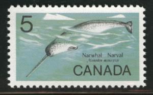 CANADA Scott 480 MNH** 5c Narwhal stamp CV$0.35
