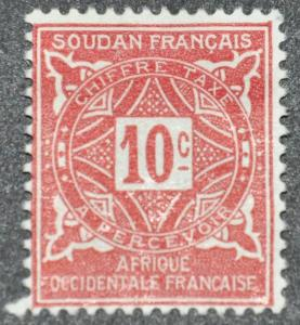 DYNAMITE Stamps: French Sudan Scott #J12 – UNUSED