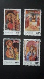 Art - paintings - Christmas - Congo DR (Zaire) 1987. ** MNH Complete set