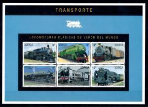 [61430] Nicaragua 1996  Railway Train Eisenbahn Chermin De Fer Sheet MNH