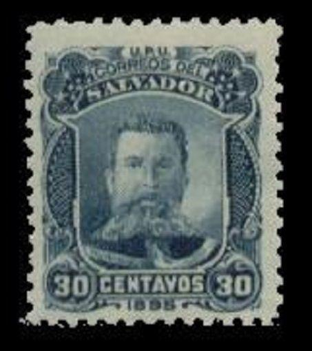Salvador 1895 Unissued Gen. Ezeta Stamp