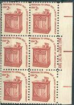 US Stamp #1582 MNH - Speaker's Stand Dull Gum ME Block of 6