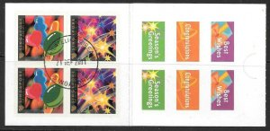 SINGAPORE SGSB42 2001 GREETINGS BOOKLET OCCASIONS FINE USED