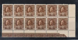 Canada #MR4 Very Fine Never Hinged Corner Block Of 12 With Strong Lathework A