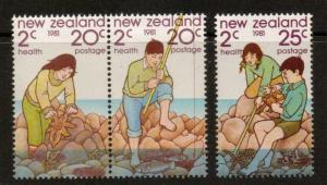 NEW ZEALAND SG1249/51 1981 HEALTH STAMPS MNH
