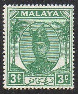 Trengganu 1949 3c green MH