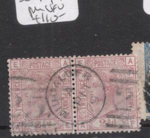 Great Britain SG 171, PL13 Pair VFU (9ddu)