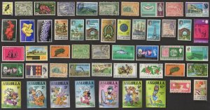 50 ST. KITTS, NEVIS & ANGUILLA  All Different Stamps (C80)