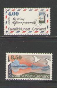 Greenland Sc 291-2 1995 Europa stamp set mint NH