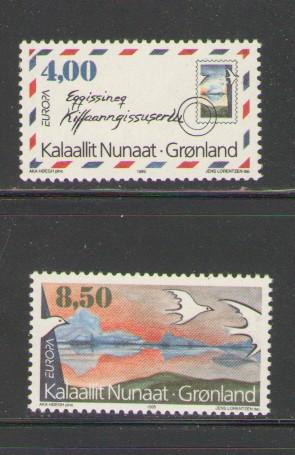 Greenland Sc 291-2 1995 Europa stamp set mint NH