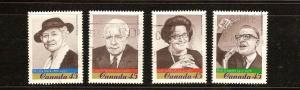 CANADIAN SET  ON  PROMINENT CANADIANS USED STAMPS  LOT#202