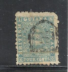 British Guiana #52 used cv $130.00 some faults