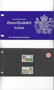 Isle of Man 154-5 Queen Elizabeth II Visit 1979 MNH Presentation Pack